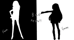 Emilee and Fawn Bad Apple!! Cover by overallpower101