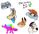 Christmas Color Sketch Batch! by the-fox-after-dark