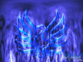 Blue Phoenix Flames by ChibiMai