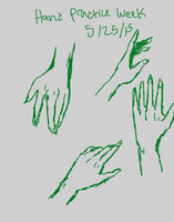 Hand Practice Week - 5/25/15 by Holographic-Neku