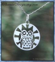 Sterling Silver Owl Pendant by StephaniePride