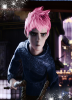 Jack Frost with Pink hair XD by therealmavisdracula