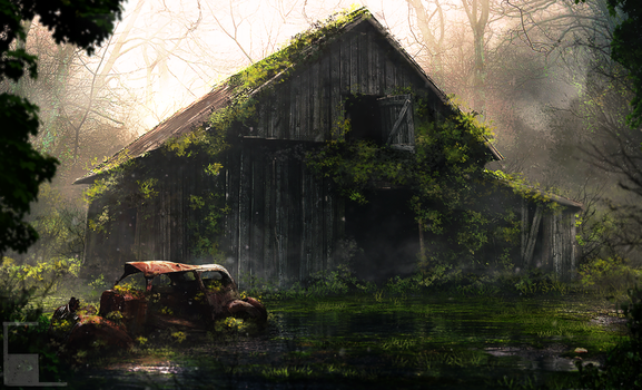 Decaying Barn by Cosme Lucero 2016 by Aeflus