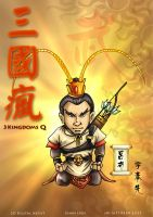 3 kingdoms Q - Lu Bu by godfathersky