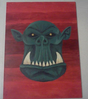 Orc Painting by TheLittlestGiant