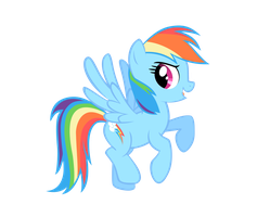 Rainbow Dash VECTORED by Elica1994