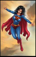 Commission: Earth11 SUPERWOMAN by johnbecaro