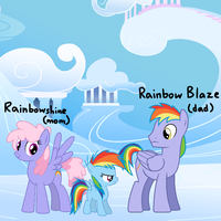 My Head Canon: Rainbow Dash's Parents by PinkieThePowerpuff