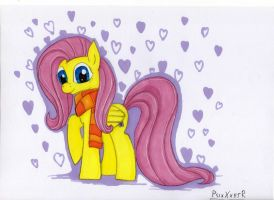 Fluttershy Loves You by SparklySpectrum