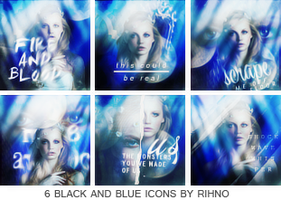 [Icon] 6 Black and Blue icons by Rihno by SuSimSi