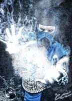 Sub-Zero Cosplay Freeze Artwork by LeonChiroCosplayArt