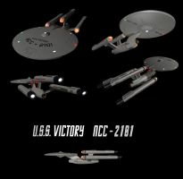 USS Victory NCC-2101 (Angled Views) by calamitySi