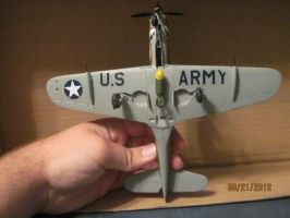 P-39 Airacobra: Bottom View by cloudyrainbow561