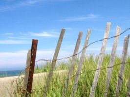 beach picket fence 3 by sarahbbutler