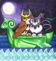 Noctowl and Purugly