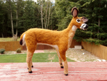 Needle Felted White-Tailed Deer Doe by DancingVulture