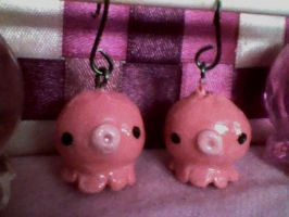 Octopus Earrings by Koneko-lynn