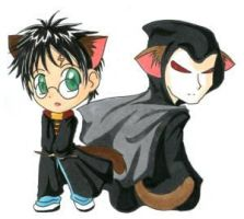 Harry Potter and Voldemort :3 by GuardianYashu