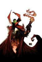 Spawn 185 cover by DrawJinDraw-jinhan