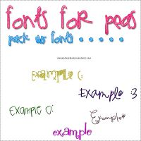 Fonts for Peas - PACK* by EmmKathleen
