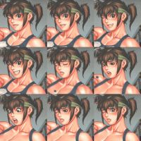 The Many Faces of Akiko Daimon by elee0228
