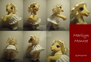 My little Pony Custom Marilyn Monroe by BerryMouse
