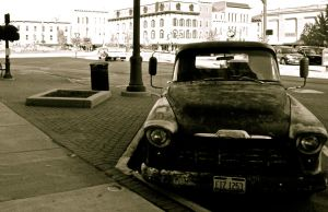 Old Town For An Old Truck by billxmaster