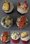 Center for Otherworld Science Cupcakes by BeanieBat