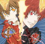 Enma and Tsuna (Coloured) by XepherKL
