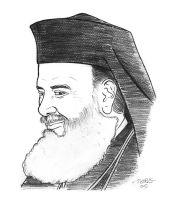 Archbishop Christodoulos_caricature by michaeltoris