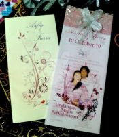 Handmade Wedding Card + Envelope (Front) by dindaseh