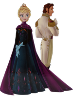 Elsa and Hans at the coronation - PNG box scan by inspired-flower