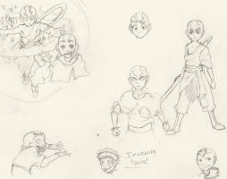 Aang Sketches by omnisession