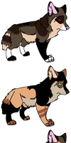 Pups to *Flashwolf101 by MichelsAdoptions