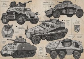 WW2 Tank Sketches 3 by Magnum117