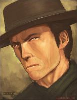 Clint Eastwood Portait by Arkiniano
