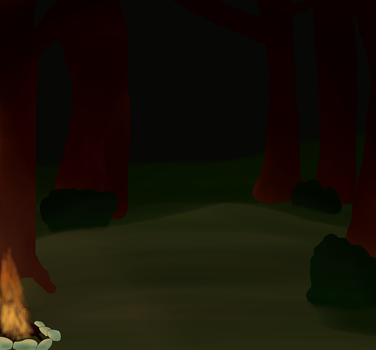Forest Campfire Background by ImoutoMeg