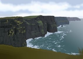 Ireland landscape by Val-eithel