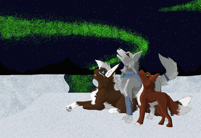 Northen Lights -contest entry- by WolfStarr7