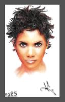 Halle Berry Painting by NG25Lab