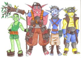 Four Eco Sages by heavensong