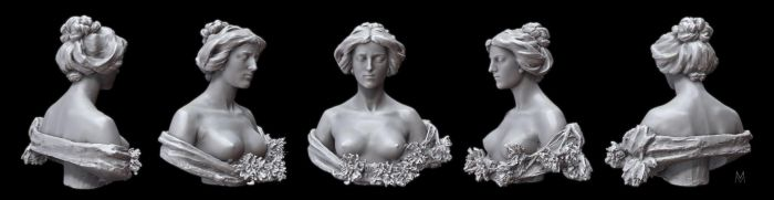 3D Scan of a sculpture: Lady by Hal8998