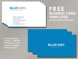 Simple Blue Business Card Template by fiftyfivepixels