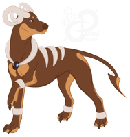 PKMN Sparkly Design: iJemz's Houndoom by PaintedCricket