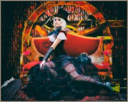 Retro Steampunk Ringmaster Portrait by rsiphotography