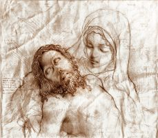 La Mia Pieta Sketch by SILENTJUSTICE