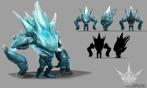 Ice Elemental by JordyLakiere