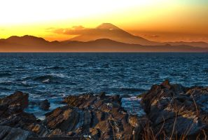 Mt Fuji from Jogashima by shod