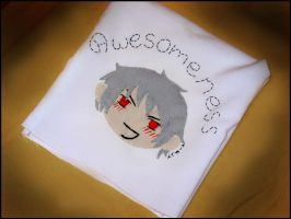Almost awesome Gilbert pillow by frecklesmelody