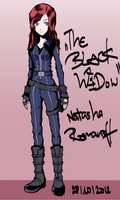 The Black Widow TWEWY style by szynka2496
